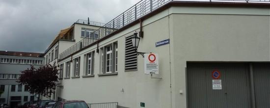 Sanierung/Aufstockung Garagengebäude, Blaufahnenstr. 3, Zürich (20.Jh.); 2014-15