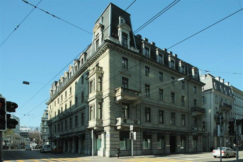 Aussensani. Bank Hofmann AG, Bleicherweg/Talstrasse, Zürich (19.Jh.); 1993