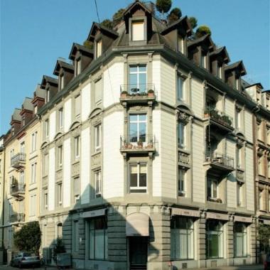 Aussensanierung Geschäftshaus Florastr. 17, Zürich (19.Jh.); 1976