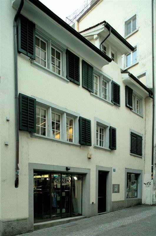 Aussensanierung Badergasse 5/Preyergasse 6, Zürich (18.Jh.); 1990