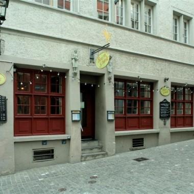 """Sanierung Restaurant """"Bauernschänke"""" Rindermarkt 24, Zürich (14.Jh.); 1990"""