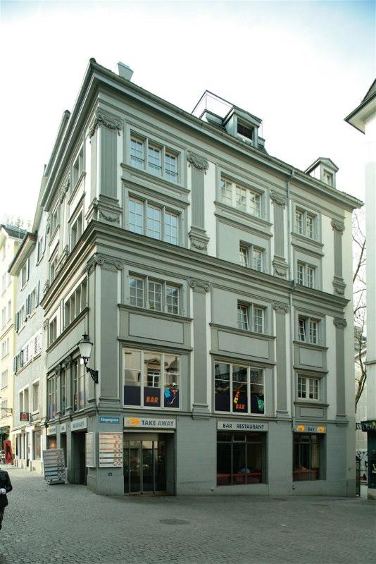 Gesamtsanierung Altstadthaus Köngengasse 8, Zürich (17.Jh.); 1992