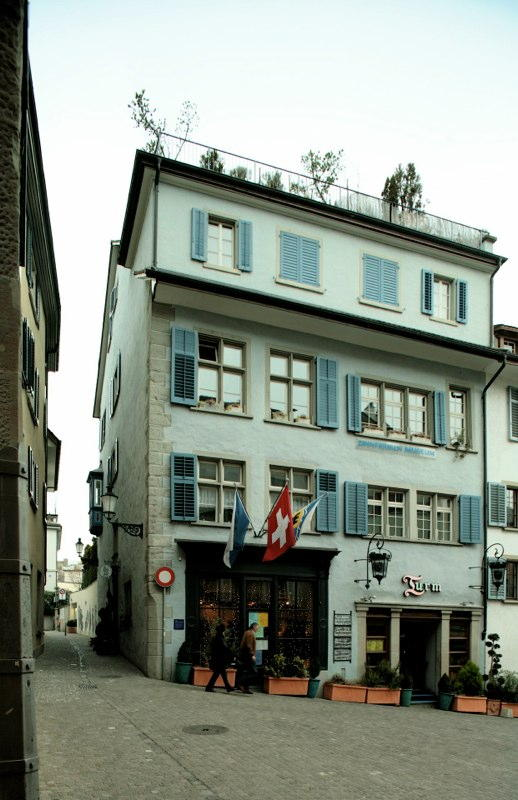 """Gesamt-Restaurierung Zunfthaus """"Letzi"""", Obere Zäune 19, Zürich (16.Jh.); 1983"""