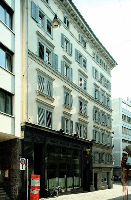 Gesamtsanierung Altstadthaus Kuttelgasse 13/15, Zürich (18.Jh.); 1984