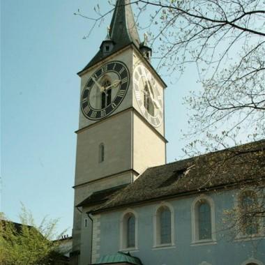 Turm-Sanierung Kirche St. Peter, St. Peterhofstatt, Zürich (9.Jh.); 1996