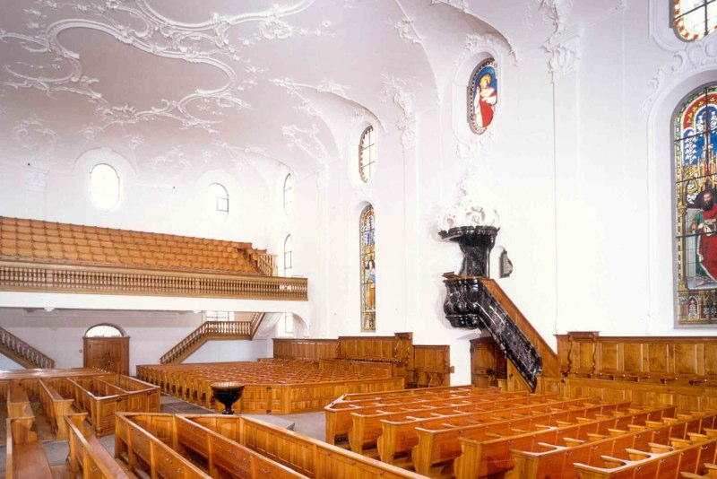 Innensanierung Evang.-ref. Kirche Wädenswil ZH (18.Jh.); 1999