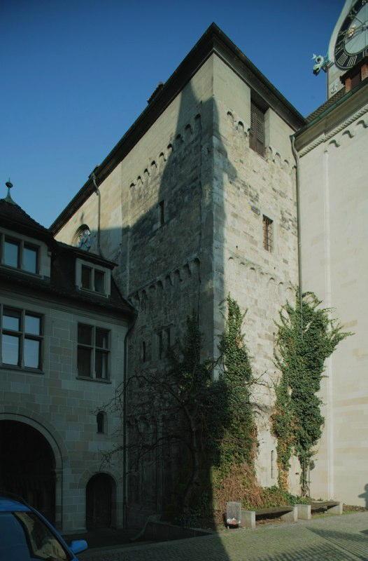 Konservierung Süd-Turm Fraumünster, Stadthausquai, Zürich (um 1100); 1982