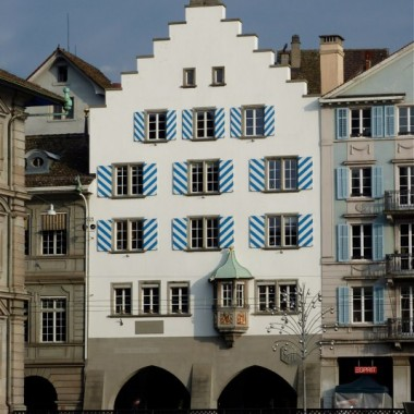 """Teil-Sanierung Gesellschaftshaus """"Zur Haue"""", Limmatquai 52, Zürich (15.Jh.); 2010"""