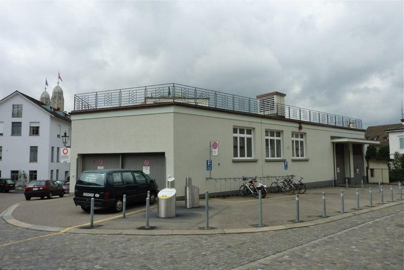 Sanierung/Umnutzung Garage, Blaufahnenstr. 3, Zürich (20.Jh.); 2014-15