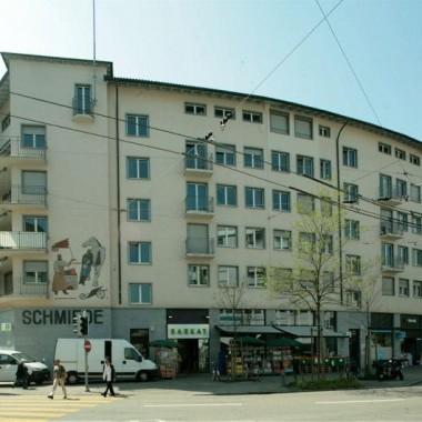 """Sanierung Geschäfts-/Wohnhaus """"Schmiede Wiedikon"""", Zürich (20.Jh.); 1995"""