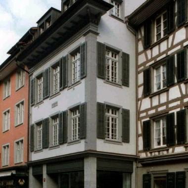 """Gesamtsanierung Altstadthaus """"Maienrisli"""", Metzggasse 4, Winterthur ZH (17.Jh.); 1993"""